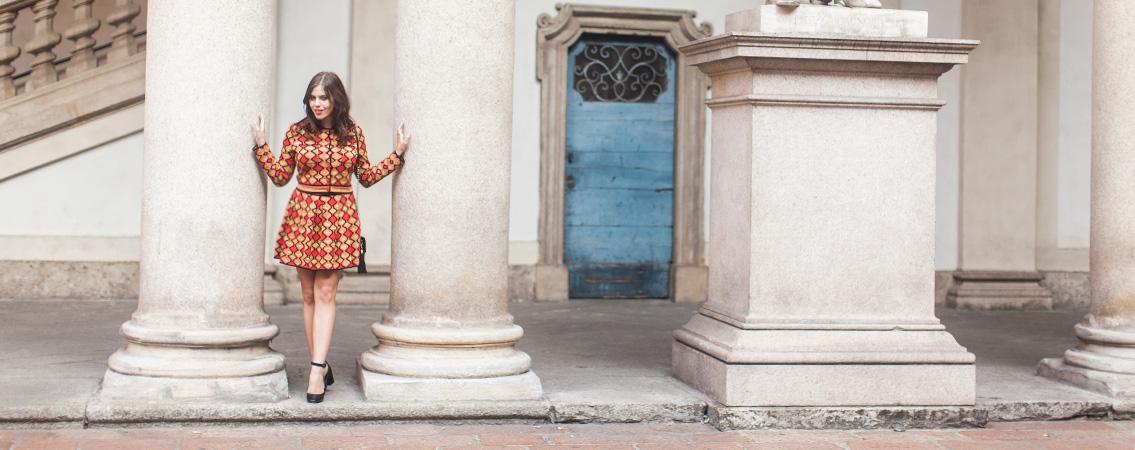 70s inspired Missoni dress