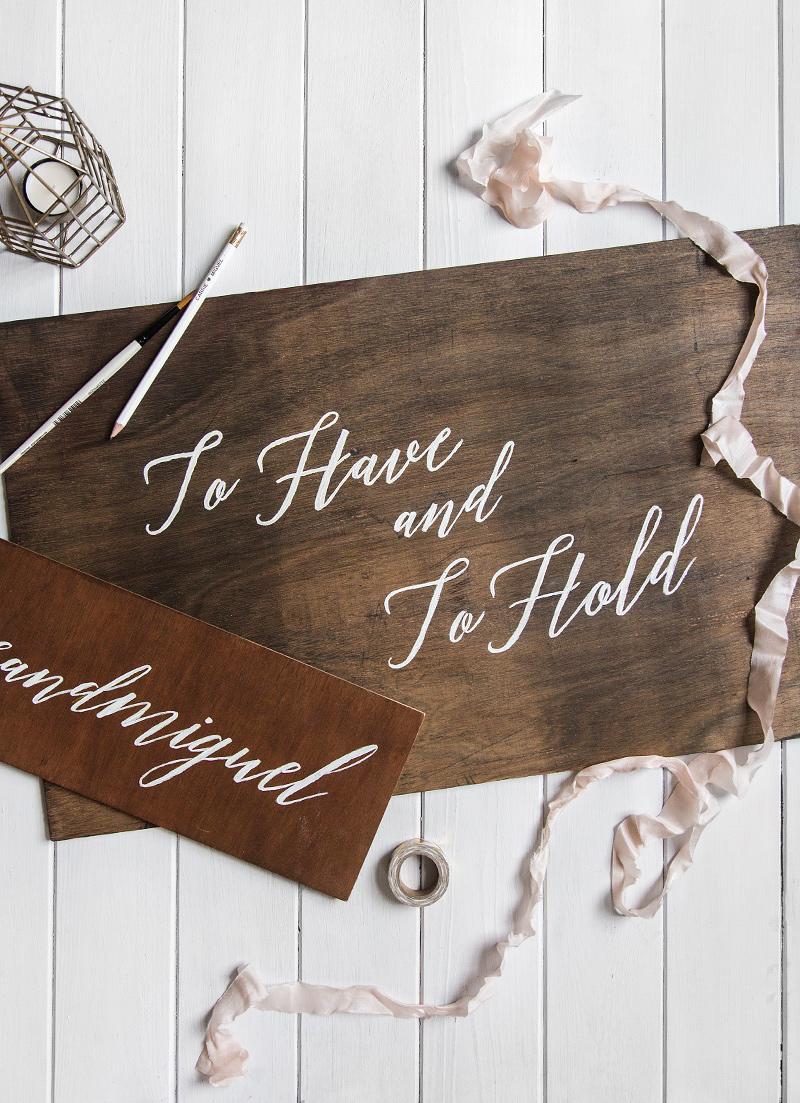 Diy Wooden Wedding Signs Wishwishwish